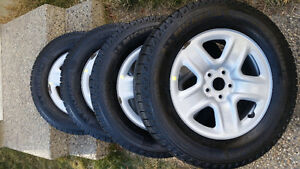 245/65R17 Michelin winter tires from Toyota highlander Edmonton Edmonton Area image 1
