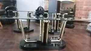 Beautiful 3pc glass coffee table set  Cambridge Kitchener Area image 1