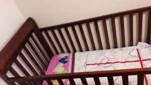 Crib for sale with a play pen for free