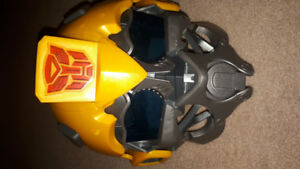 Transformers bumblebee helmet with speaker microphone