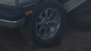 "Brand new 33""s on 20"" rims"