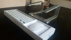 Apple Bluetooth Keyboard, Mouse and Laptop Stand