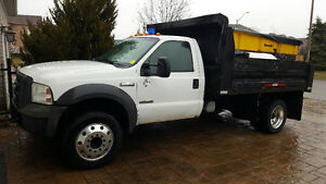 F550 super duty dump box .with salter or without