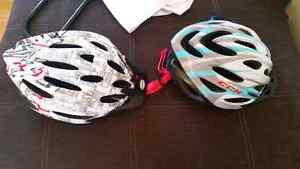 Two brand new bicycle helmets