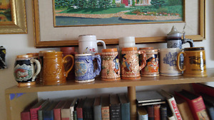 Collection of vintage Beer Steins