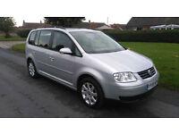 2005 '55' VW TOURAN 1.9 TDi SE *** DVD PLAYER, 7 SEATS, FSH, NEW MOT, 108K ***