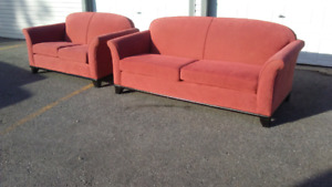 """Gorgeous """"coral"""" couch set"""