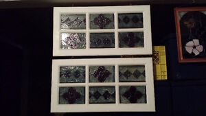 Hanging Stained Glass Windows and Framed Piece