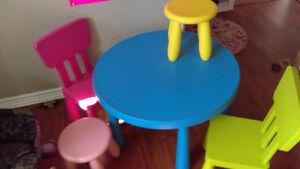 table pour enfants