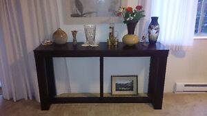 Hardwood living room side table