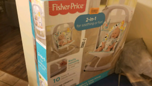 NEW fisher price 2in1 take-along swing