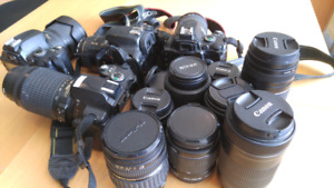 **Must See! Assorted Cameras & Lenses for beginner photographers