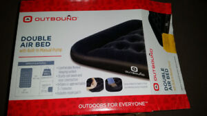 Outbound Airbed with Foot Pump, Double