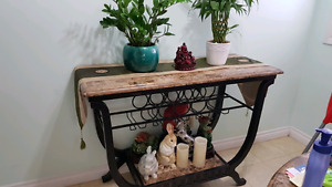 Wine rack and matching dining table with 4 chairs