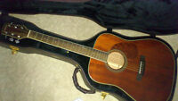 RARE Carvin Cobalt Acoustic (solid mahogany) PLUS Deluxe Case!!