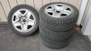 Winter tires with rims 225/45R17