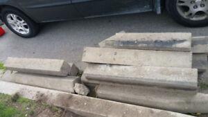 Driveway concrete Curbs - $20 Per Piece!