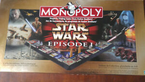 Star Wars Episode 1, Gold 3D Collectors Edition Monopoly Game