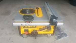 Lightly used Dewalt Table saw