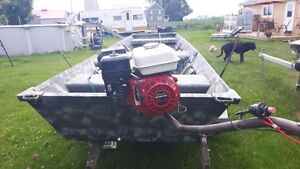 Chaloupe chasse aux canards (mud motor)