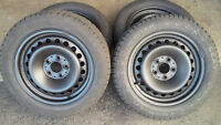 205/55/16 Winter Snow Tires 5x112 VW Audi Benz Bolt Pattern 80%