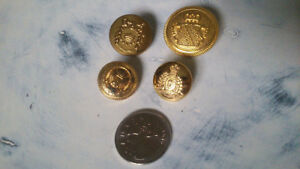 Lot of 4 Gold Vintage Steampunk Buttons