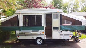 Well-maintained Viking Tent Trailer with Roof Rack - Reduced
