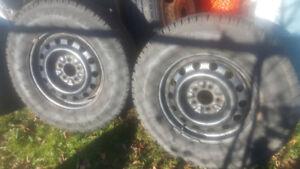 235-70R16 Snow Tires on Jeep TJ Rims