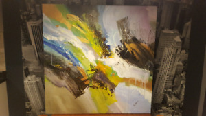 """Abstract Painting - 36"""" x 36"""" - $500 New - NOT a print"""