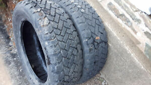 pair of 205/60r16 winter tires for sale, lots of thread.