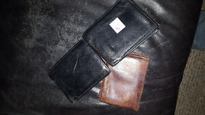 Leather wallets used