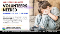 CCA needs Volunteers for Undercover Project