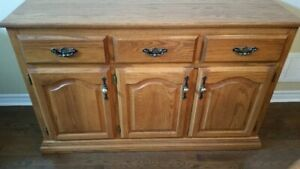 Solid Oak Dining Buffet/Cabinet (Custom Made) $450