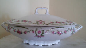 Antique Porcelain Tureen from Carl Tielsch Germany .