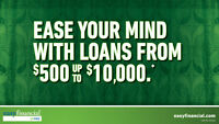 Ease your mind with loans from $500-$10,000