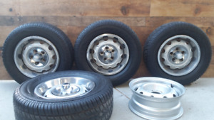 "Set of 14"" Factory Rally wheels & Tires 67' Dodge"