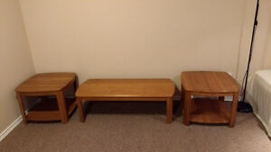 Solid Oak Coffee and End Tables