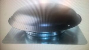 Cool Attic CX1000AMWGUPS Power Roof Galvanized Steel Vent Dome w
