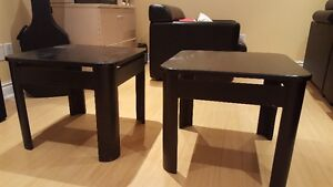 2 black side tables SELLING FOR $60