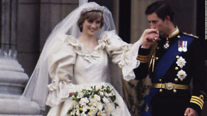 PRINCE CHARLES & LADY DIANA SPENCER 1981 Wedding Crystal Bell