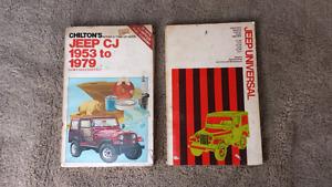 Willys Jeep CJ Universal manuals