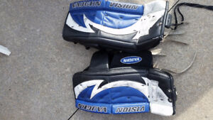 Youth goalie pads 25""