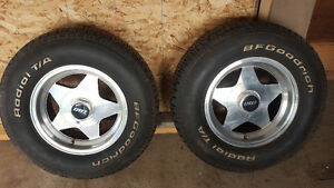 BF Goodrich Radial T/A 225 70 R14 Tires with eagle alloy wheels Strathcona County Edmonton Area image 1