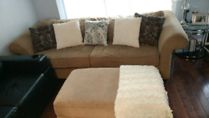 Oversized sofa with matching ottoman
