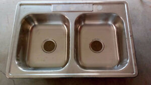 New Stainless Steel Double Sink