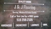 J & J Flooring, Hardwood, Engineered, Laminate, Vinyl Installs