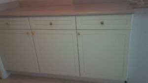 """63"""" of base kitchen cabinet c/w counter-top"""