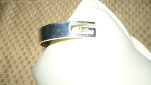 """STUNNING AUTHENTIC """"STERLING SILVER GUCCI CUFF BANGLE BRACELET"""" Kitchener / Waterloo Kitchener Area image 5"""