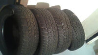 {215-65R16} Four used tires are in good condition