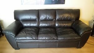Genuine Leather Couch & Love Seat